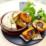 Oven Baked Camembert with Peaches