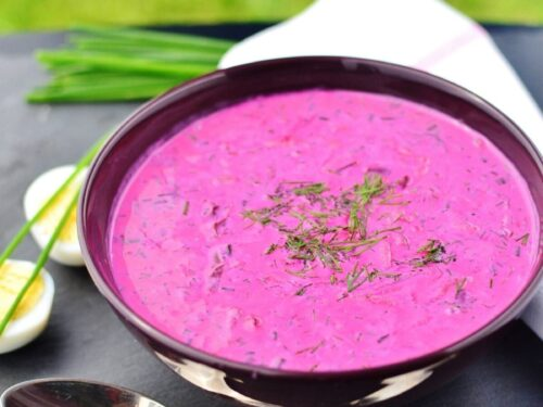 Cold Beet Soup With Yogurt Polish Chlodnik Everyday Healthy Recipes