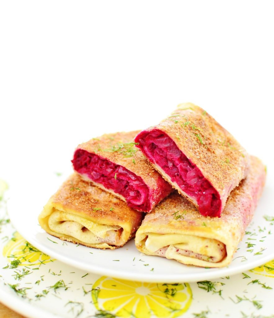 Polish Krokiety with Beets and Cabbage