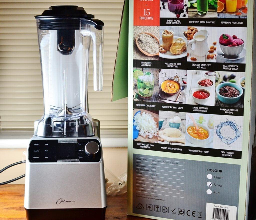 Optimum VAC2 Air Vacuum Blender Review Plus Tomato Zucchini Soup