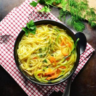 Healthy Chicken Noodle Soup with Zoodles