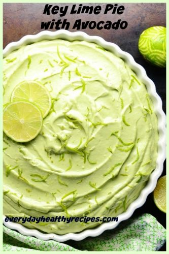 Key Lime Avocado Cheesecake Pie Recipe