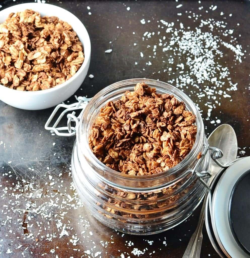 Chocolate Coconut Granola Recipe Low Sugar Everyday Healthy Recipes