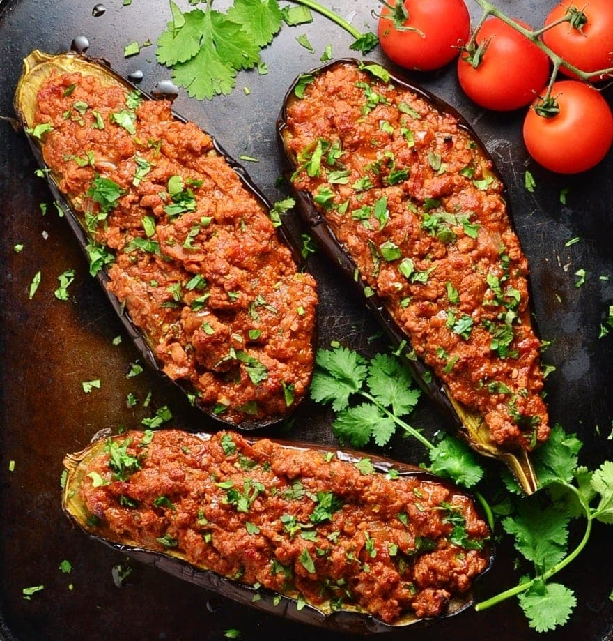Easy Turkey Stuffed Eggplant Recipe