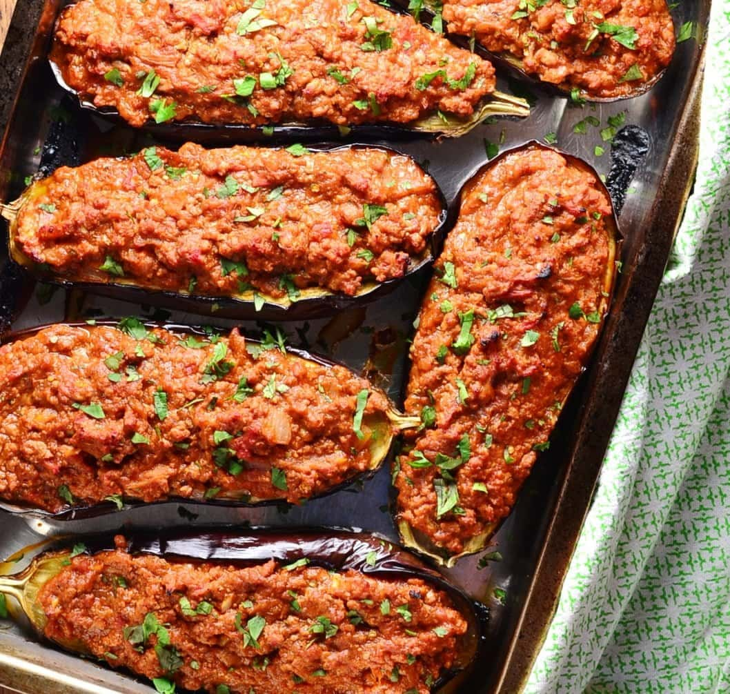 eggplant stuffed recipe easy turkey healthy meat dish recipes delicious perfect why spices too oven everyday