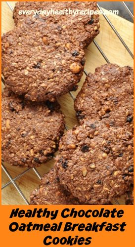 Healthy Chocolate Oatmeal Breakfast Cookies