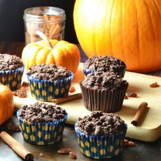 Healthy Pumpkin Muffin Recipe with Chocolate Streusel