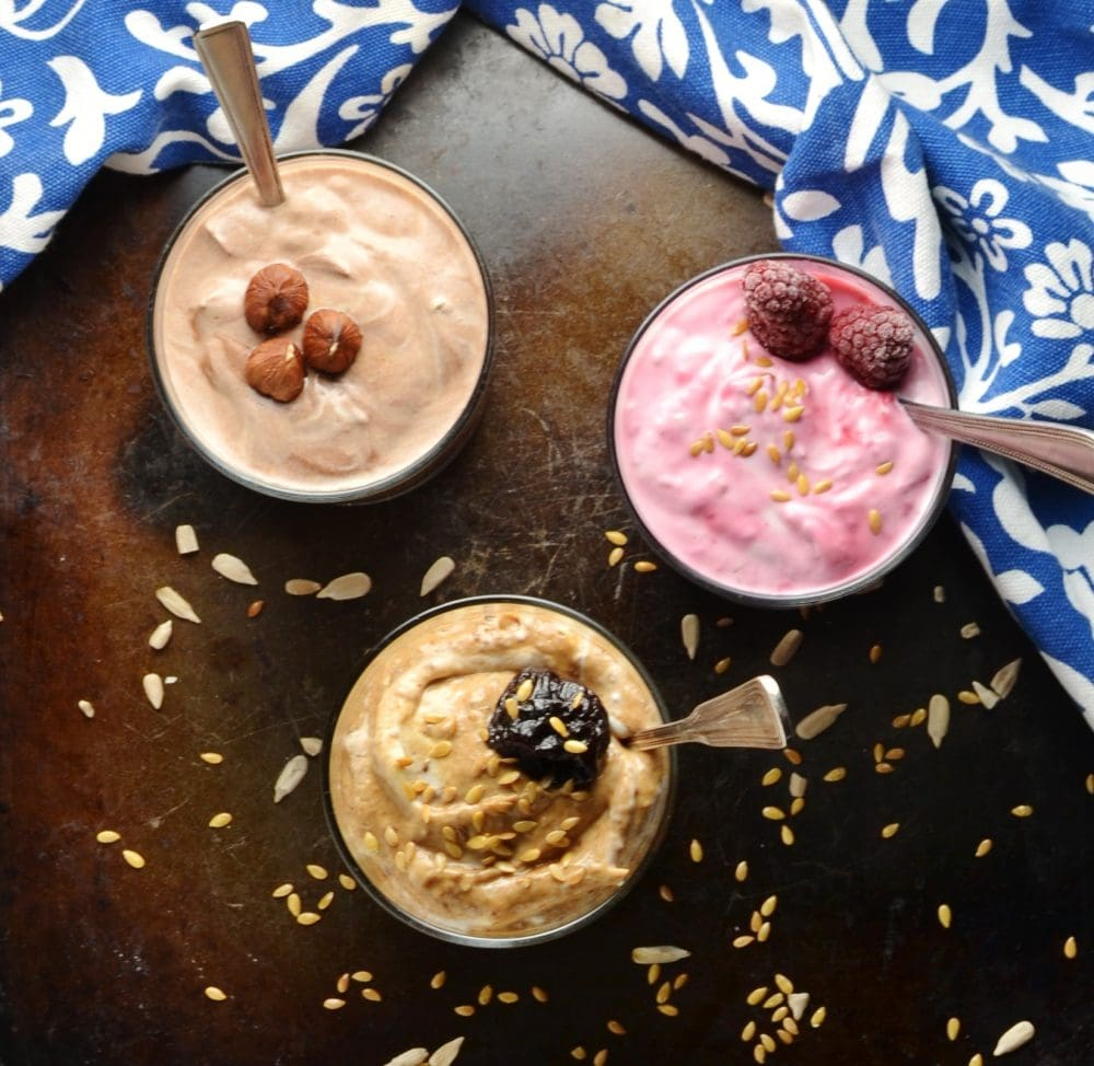 How to Make Flavoured Yogurt 3 Ways (Mocha, Raspberry, Prune)