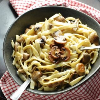 Easy Low Fat Mushroom Pasta Sauce