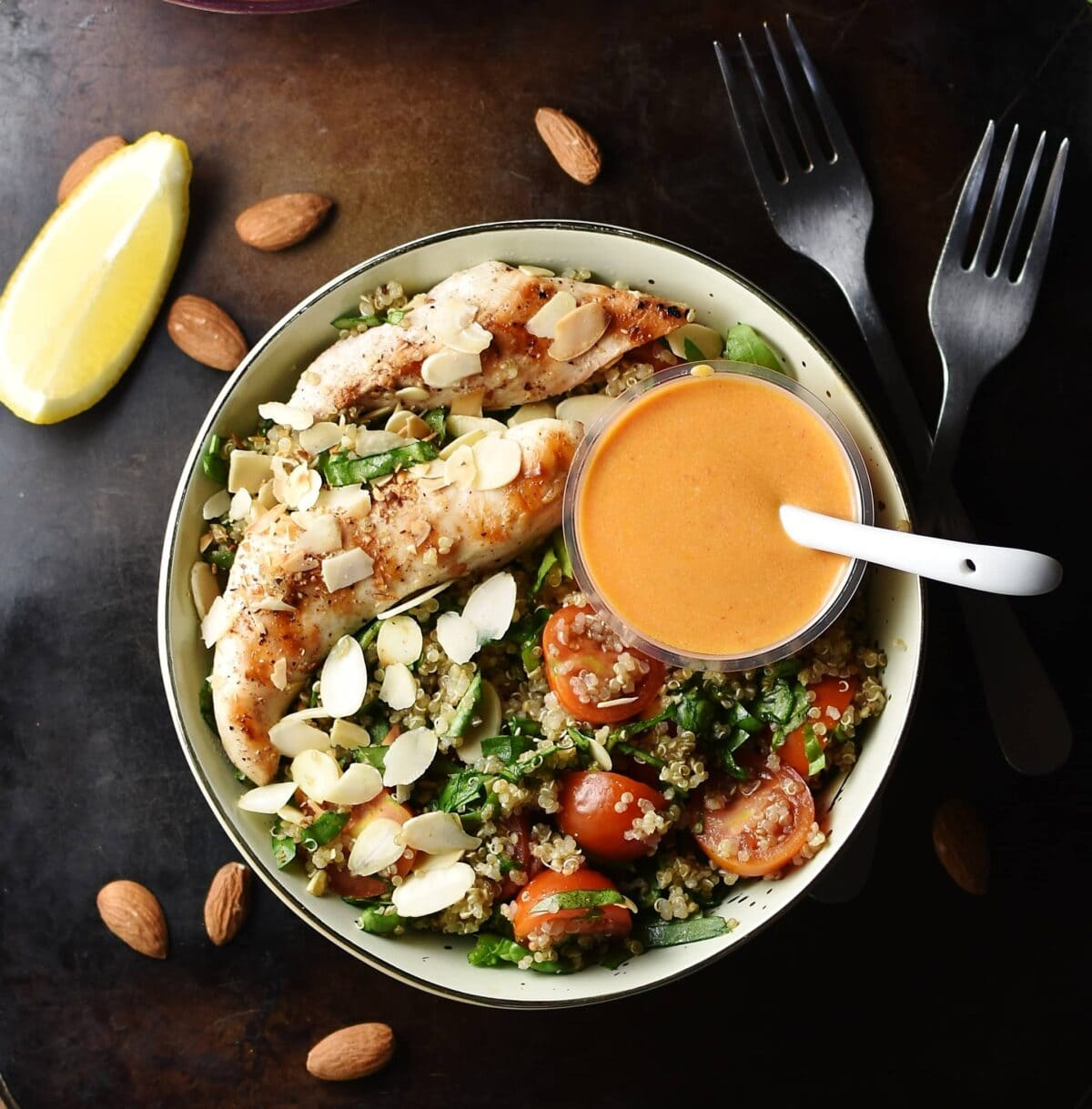Chicken Quinoa Salad With Sriracha Dressing Everyday Healthy Recipes